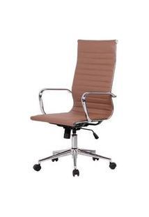 Cadeira Sevilha Eames Alta Pu Fendi Base Cromada 115Cm - 62972 Sun House