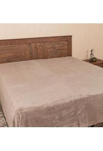 Cobertor Casal 1,80M X 2,20M Dobby Taupe