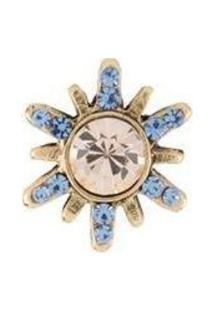 Broche Pin Armazém Rr Bijoux Cristais Mel E Azul