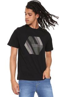 Camiseta Quiksilver Retro Right Preta
