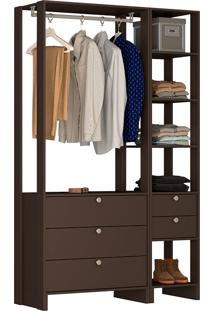 Guarda-Roupa Modulado Closet 102106 - Nova Mobile - Grafite Intenso