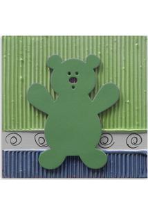 Quadro Urso Uniart Verde 30X30Cm