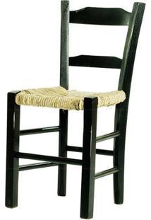 Cadeira Lagiana Pequena Eucalipto Preta Palha - 35537 - Sun House
