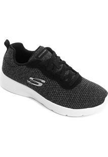 Tênis Skechers Dynamight 2.0-Quick Concept Feminino - Feminino-Preto+Branco