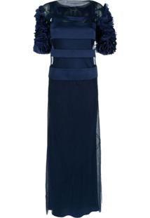 2fc621b0d0 ... Gloria Coelho Vestido Longo Recortes - Azul