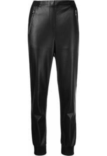 Karl Lagerfeld Calça Reta Cintura Média - Preto