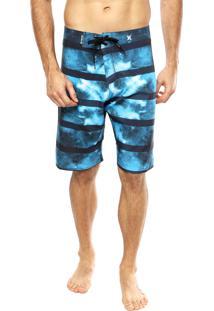 Bermuda Água Hurley Striped Water Azul