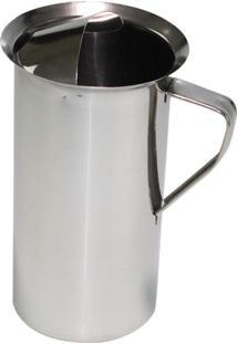 Jarra Inox Para Suco Ou Agua Com Aparador De Gelo 1,8 Litros Material::Aço Inox