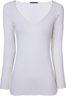 Blusa Bobô Carla Malha Off White Feminina (Off White, Gg)