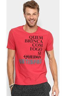 Camiseta Handbook Estampada Masculina - Masculino