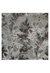 Papel De Parede Vinílico Bright Wall Y6130703 Prateado Com Estampa Contendo Folhagem