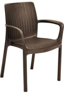 Cadeira Para Área Externa Rattan I Marrom