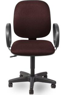 Cadeira Diretor Giratória 602 Com Braço Corsa E Sitema Relax - Bordô / Preto - Móveis Belo