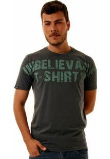 Camiseta Oitavo Ato Unbelievable Masculina - Masculino-Chumbo