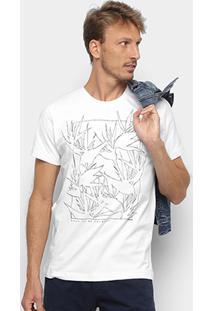 Camiseta Forum Folhagens Masculina - Masculino-Branco