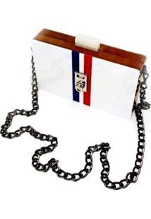 Bolsa La Madame Co Clutch Design Front White