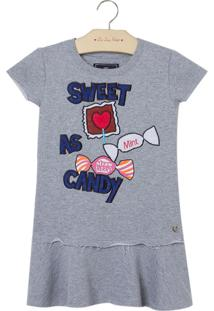 Vestido Sweet As Candy (Cinza Mescla Medio, 6)