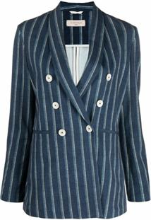 Circolo 1901 Blazer Com Listras - Azul
