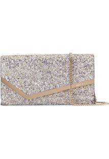 Jimmy Choo Emmie Glitter Mini Bag - Roxo