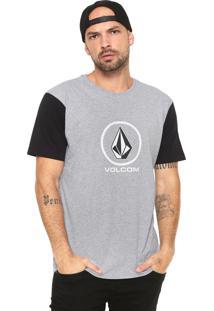 Camiseta Volcom New Circle Cinza