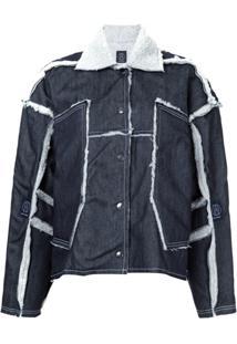 Lærke Andersen Jaqueta Jeans Oversized 'Lazy Tech' - Azul