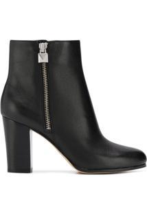 Michael Michael Kors Ankle Boot 'Margaret' De Couro - Preto