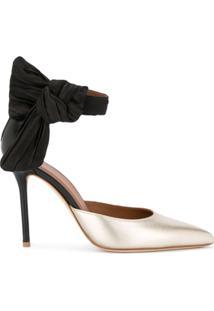 f57dbcf4c2 Sapato Com Salto Dourado feminino