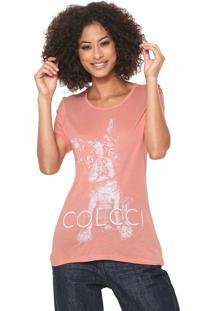 Camiseta Colcci Love Pets Coral