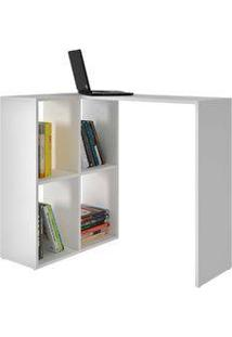 Escrivaninha/Mesa Para Computador Com Nichos Bc 42 Branco - Brv Móveis