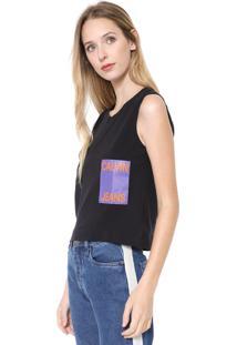 Regata Calvin Klein Jeans Logo Preta