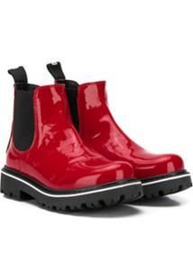Moschino Kids Ankle Boot - Vermelho