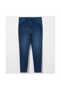 Calça Skinny Push Up Jeans Curve & Plus Size   Ashua Curve E Plus Size   Azul   54