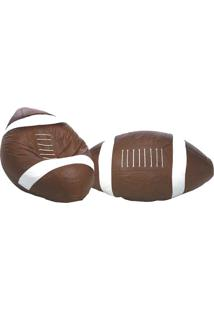 Puff Big Ball Futebol Americano - Stay Puff - Caramelo