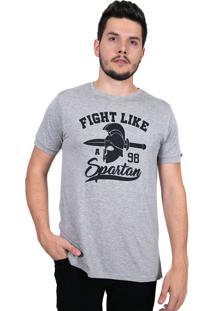 Camiseta Baiki Badhai Fenda Lateral Spartan Cinza