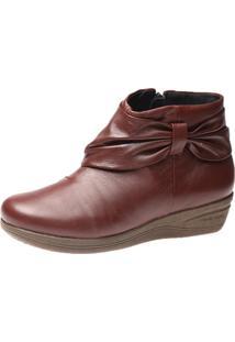 Bota Feminina Anabela Doctor Shoes 158 Vinho