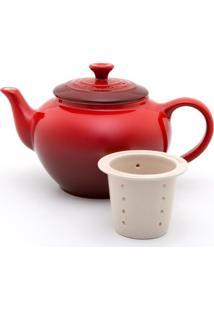 Bule De Chá Com Infusor Vermelho Le Creuset