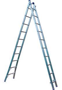 Escada De Alumínio Extensível 2X10 - Mor