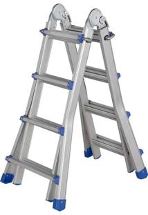Escada De Alumínio Versátil 14 Degraus - Mor