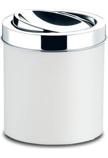 Lixeira Com Tampa Basculante Brinox Decorline, 5,4 Litros, Branca - 3401/202