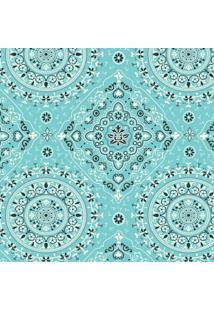 Tecido Adesivo Bandana Azul Turquesa