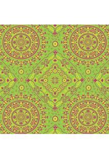 Tecido Adesivo Bandana Pink Amarela Fundo Verde