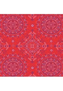 Tecido Adesivo Bandana Rosa E Roxa Fundo Vermelho