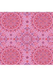 Tecido Adesivo Bandana Vermelha E Roxa Fundo Rosa