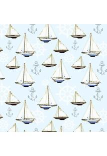 Tecido Adesivo Barcos E Ancoras