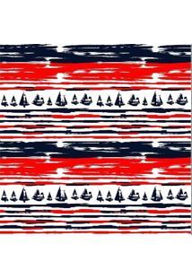 Tecido Adesivo Barcos E Listras Modernas