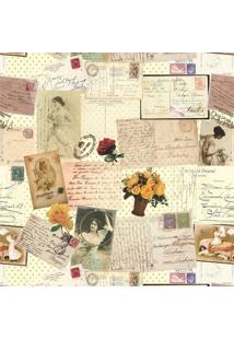 Tecido Adesivo Cartão Postal