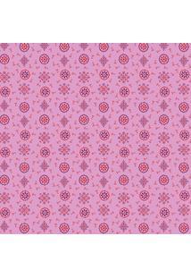 Tecido Adesivo Compose Dona Rosa Vermelho E Roxo