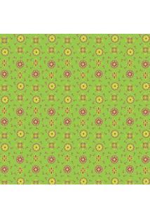 Tecido Adesivo Compose Dona Verde Amarelo E Pink