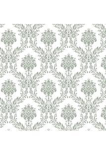 Tecido Adesivo Damasco Cinza E Branco