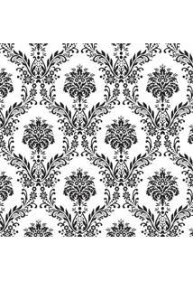 Tecido Adesivo Damasco Preto E Branco